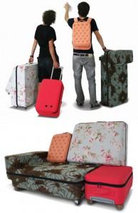 maleta que se hace sofá
