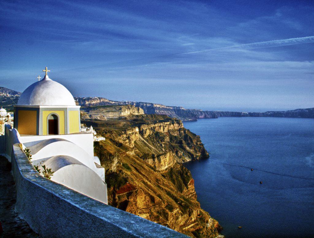 Arquitectura y playa griegas