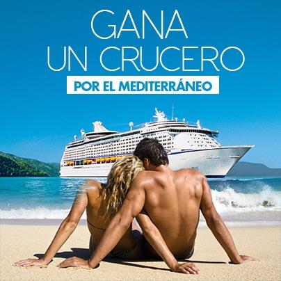 Crucero en el Mediterráneo para dos personas