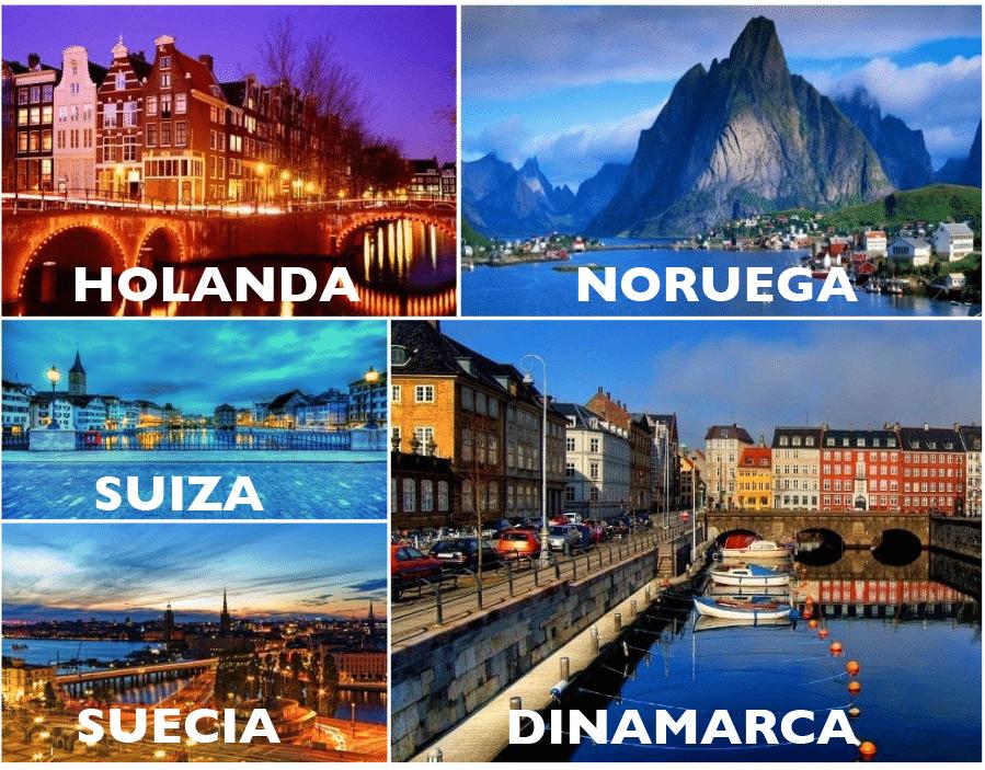 En el norte de Europa son más alegres