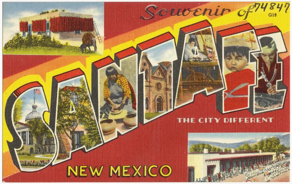 Cartel de Souvenir de Santa Fe