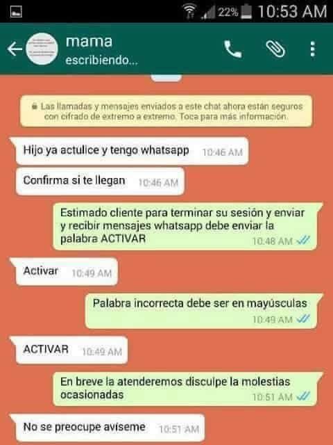 conversacion whatsapp mama