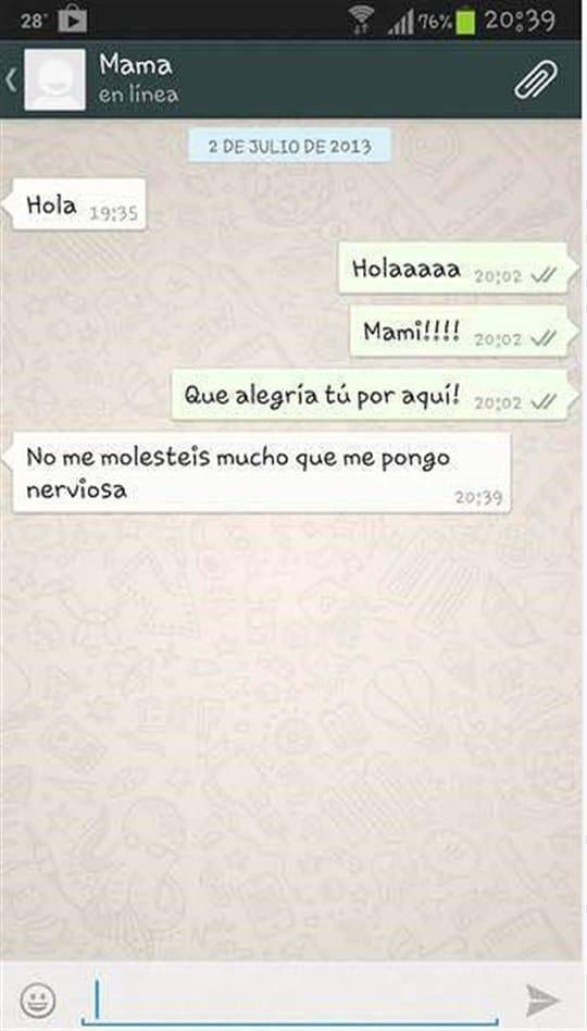 whatsapp madres nerviosas foto