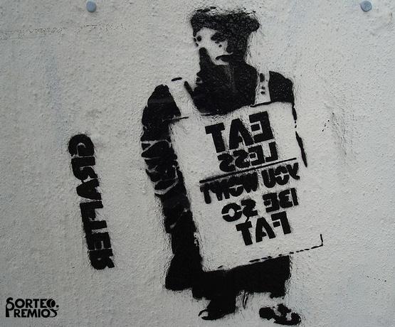 Londres está lleno de arte callejero como grafiti.