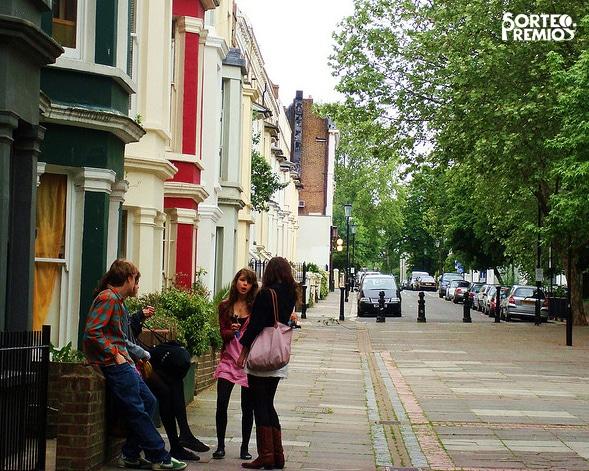 Una calle bonita del barrio Nothing Hill.