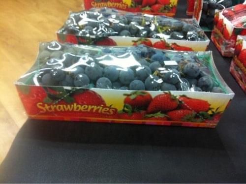 Fresas, arándanos, da igual es fruta.