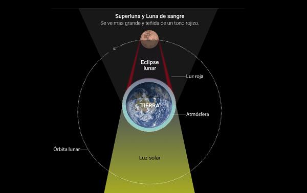 infografía eclipse de sangre