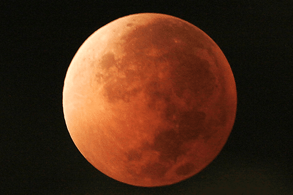 fotografía eclipse luna roja