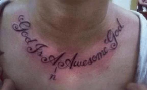imagen de tatuaje rectificado error ortográfico