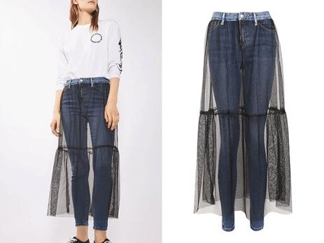 pantalones con falda