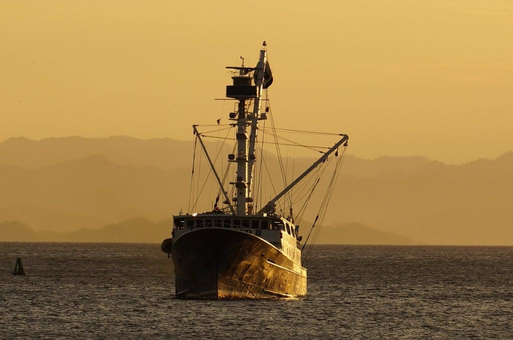 barco pesquero a la deriva